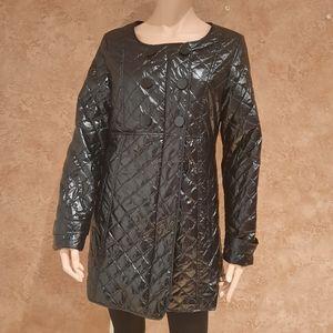 B.style black large long coat woman